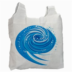 Water Round Blue Recycle Bag (one Side)
