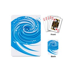 Water Round Blue Playing Cards (mini)