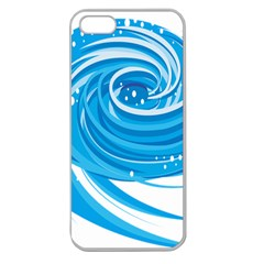 Water Round Blue Apple Seamless Iphone 5 Case (clear)
