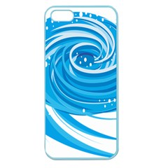 Water Round Blue Apple Seamless Iphone 5 Case (color)