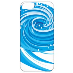 Water Round Blue Apple Iphone 5 Classic Hardshell Case by Alisyart