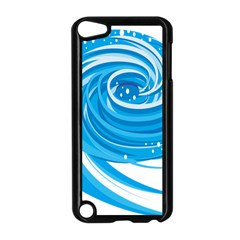 Water Round Blue Apple Ipod Touch 5 Case (black)