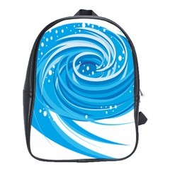 Water Round Blue School Bags (xl)