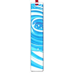 Water Round Blue Large Book Marks