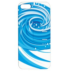 Water Round Blue Apple Iphone 5 Hardshell Case With Stand