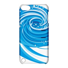 Water Round Blue Apple Ipod Touch 5 Hardshell Case With Stand