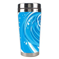 Water Round Blue Stainless Steel Travel Tumblers