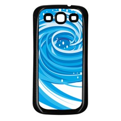 Water Round Blue Samsung Galaxy S3 Back Case (black) by Alisyart