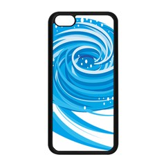 Water Round Blue Apple Iphone 5c Seamless Case (black)