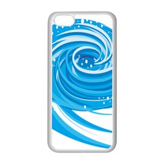 Water Round Blue Apple Iphone 5c Seamless Case (white)