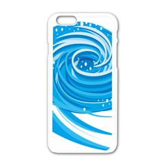 Water Round Blue Apple Iphone 6/6s White Enamel Case