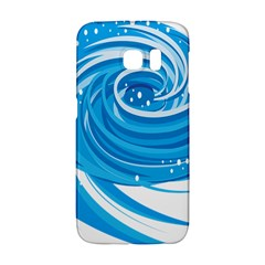 Water Round Blue Galaxy S6 Edge by Alisyart