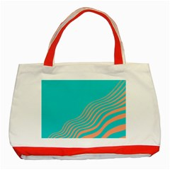 Water Waves Blue Orange Classic Tote Bag (red)