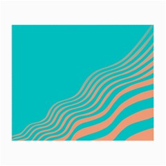 Water Waves Blue Orange Small Glasses Cloth (2 Side) by Alisyart