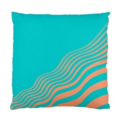 Water Waves Blue Orange Standard Cushion Case (two Sides) by Alisyart