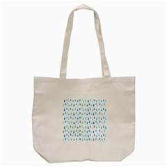 Water Rain Blue Tote Bag (cream) by Alisyart