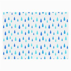 Water Rain Blue Large Glasses Cloth