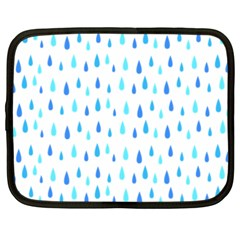 Water Rain Blue Netbook Case (xxl)