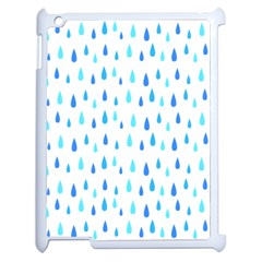 Water Rain Blue Apple Ipad 2 Case (white)