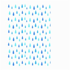 Water Rain Blue Small Garden Flag (two Sides)