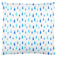 Water Rain Blue Large Cushion Case (two Sides)