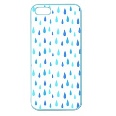 Water Rain Blue Apple Seamless Iphone 5 Case (color)