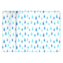 Water Rain Blue Samsung Galaxy Tab 10 1  P7500 Flip Case