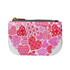 Valentines Day Pink Heart Love Mini Coin Purses
