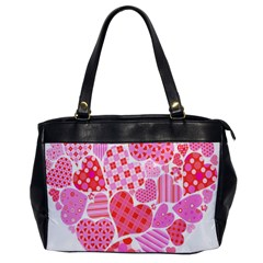 Valentines Day Pink Heart Love Office Handbags