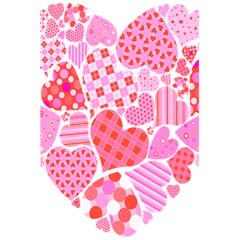 Valentines Day Pink Heart Love 5 5  X 8 5  Notebooks