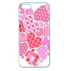 Valentines Day Pink Heart Love Apple Seamless Iphone 5 Case (color)