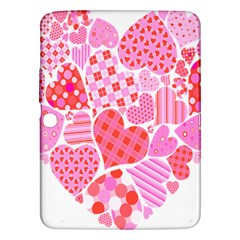 Valentines Day Pink Heart Love Samsung Galaxy Tab 3 (10 1 ) P5200 Hardshell Case