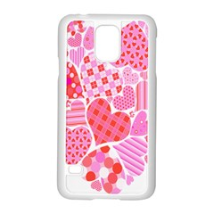 Valentines Day Pink Heart Love Samsung Galaxy S5 Case (white)