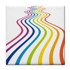 Wave Rainbow Tile Coasters