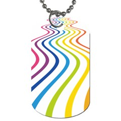 Wave Rainbow Dog Tag (one Side)