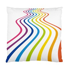 Wave Rainbow Standard Cushion Case (two Sides) by Alisyart