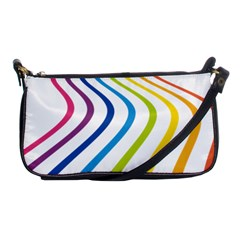Wave Rainbow Shoulder Clutch Bags