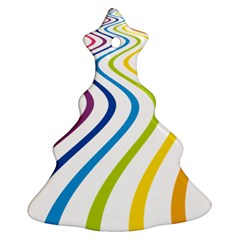 Wave Rainbow Ornament (christmas Tree)