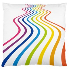 Wave Rainbow Standard Flano Cushion Case (one Side)
