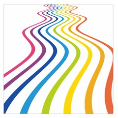 Wave Rainbow Large Satin Scarf (square)