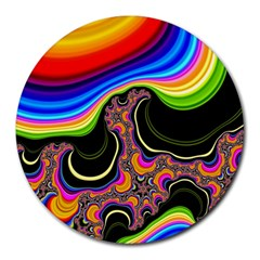 Wave Color Round Mousepads by Alisyart