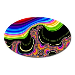Wave Color Oval Magnet