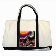 Wave Color Two Tone Tote Bag by Alisyart
