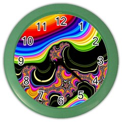 Wave Color Color Wall Clocks by Alisyart