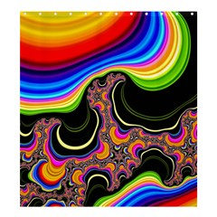 Wave Color Shower Curtain 66  X 72  (large)