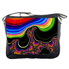 Wave Color Messenger Bags by Alisyart