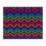 Wave Chevron Rainbow Color Small Glasses Cloth (2-Side) Front
