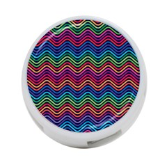 Wave Chevron Rainbow Color 4 Port Usb Hub (two Sides)  by Alisyart