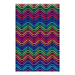 Wave Chevron Rainbow Color Shower Curtain 48  X 72  (small)
