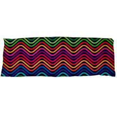 Wave Chevron Rainbow Color Body Pillow Case Dakimakura (two Sides) by Alisyart